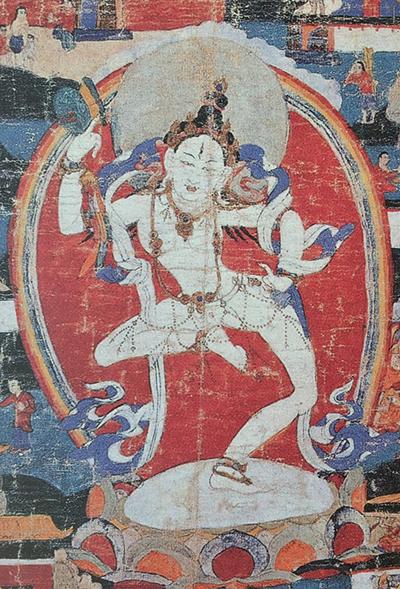 Machine Labdron thankga (traditional) depict the 11th century Tibetan saint