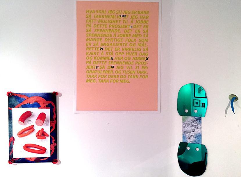 "Installation view: ""Det er så spennende"" in group show at Ekco London (foto Roberto Ekholm)"