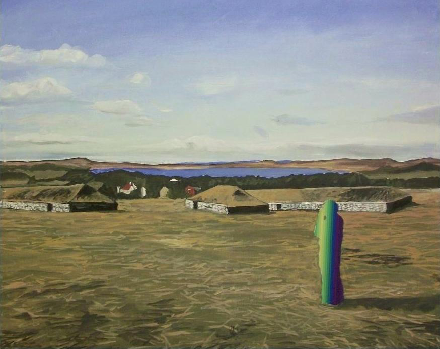 Malcom Morley, painting