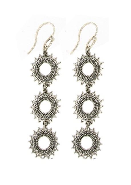 karma dangle earrings