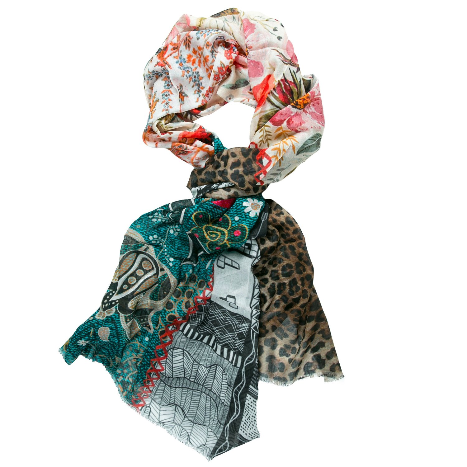 red modal scarf online