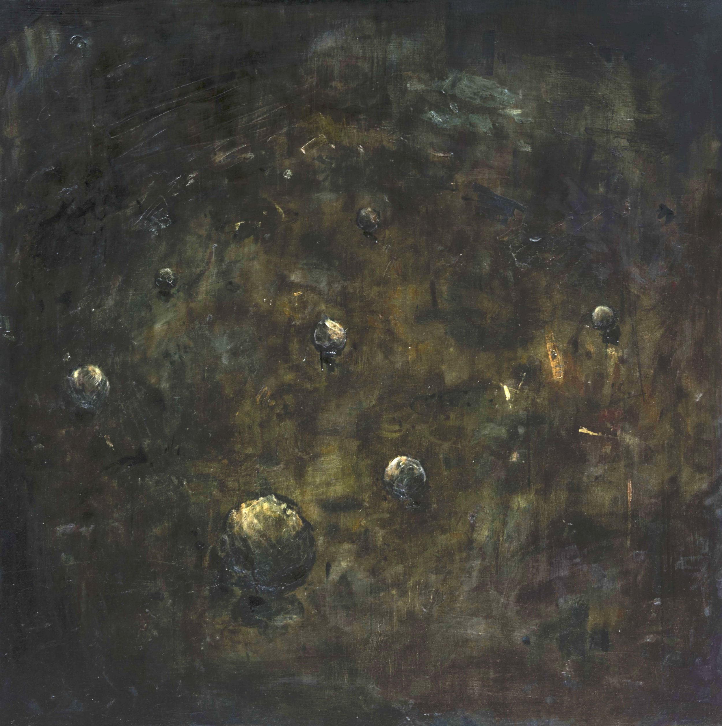 Descendents   oil on wood  48 x 48