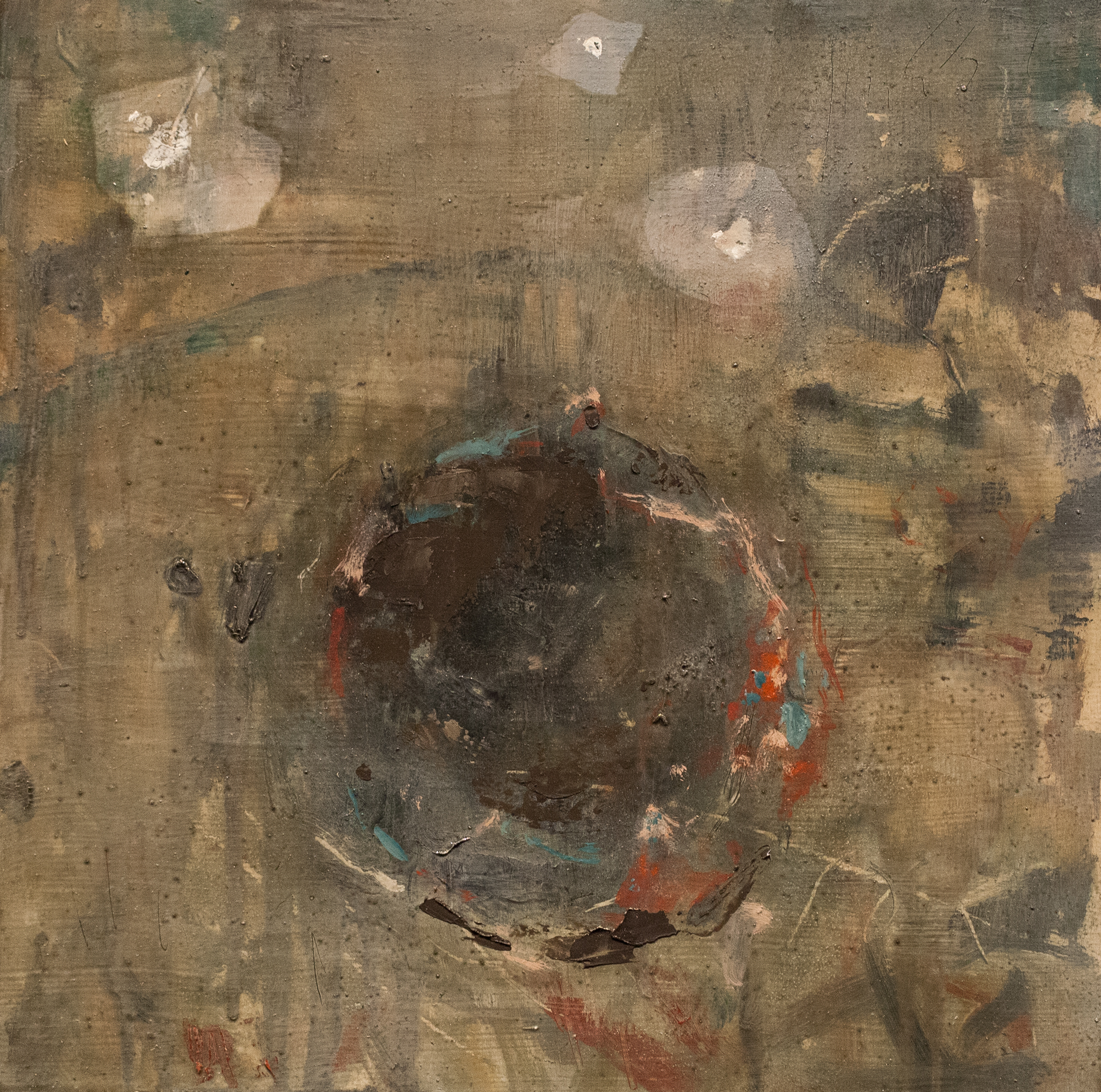 Hollow Stones I   oil on wood  10 x 10