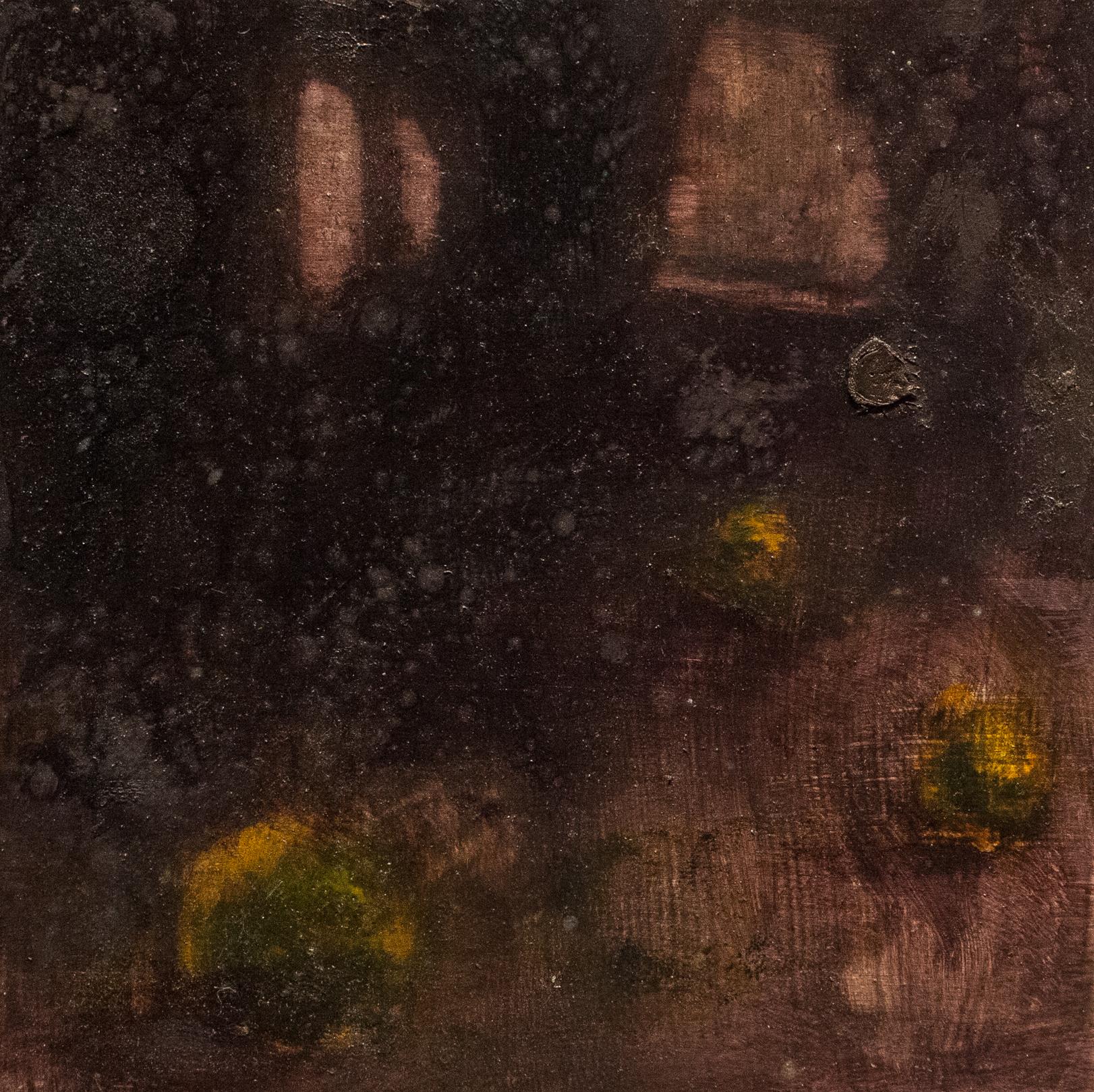 Hollow Stones III   oil on wood  8 x 8