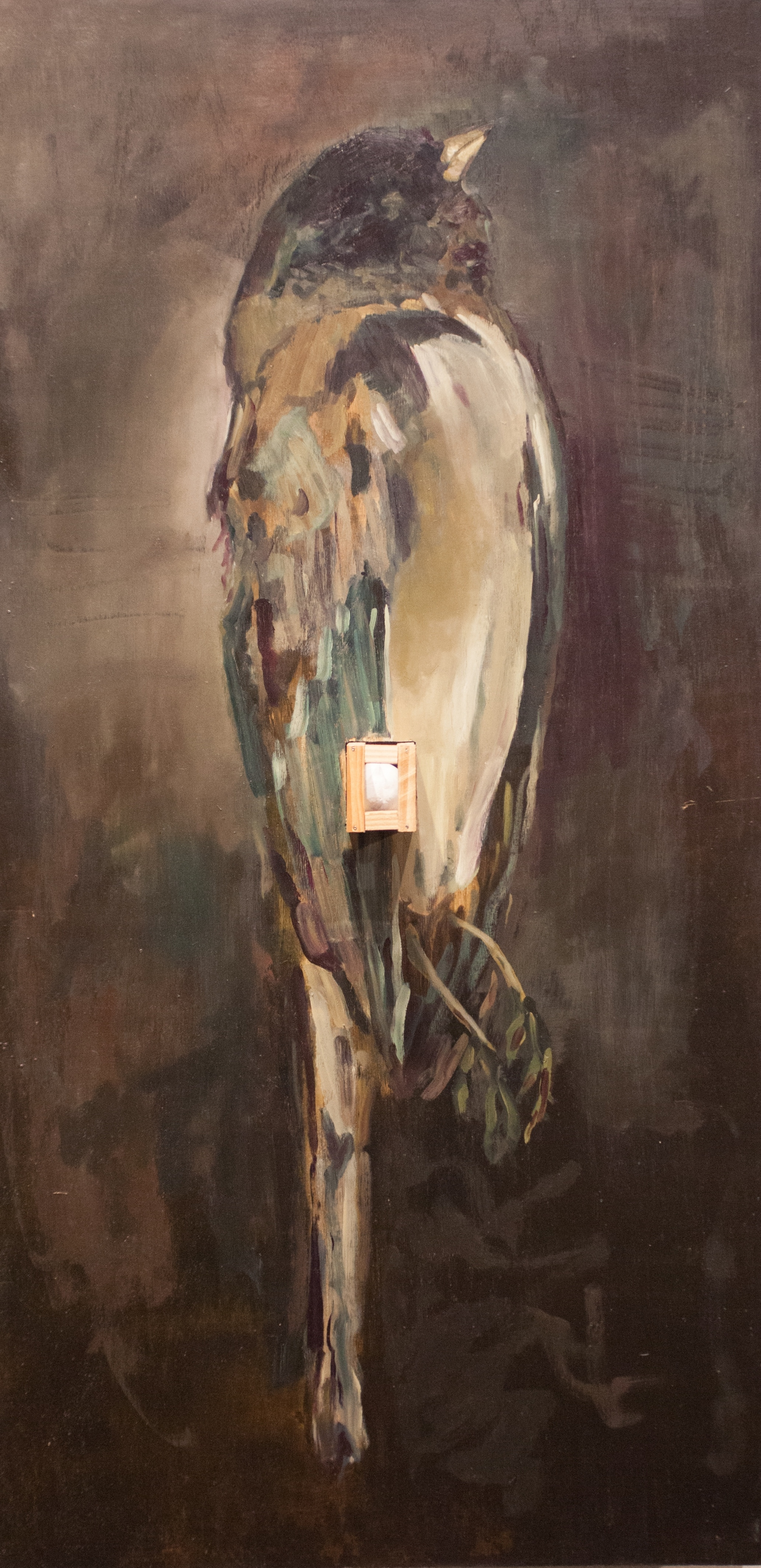 Transubstantiation   oil on wood and plaster  24x48x8
