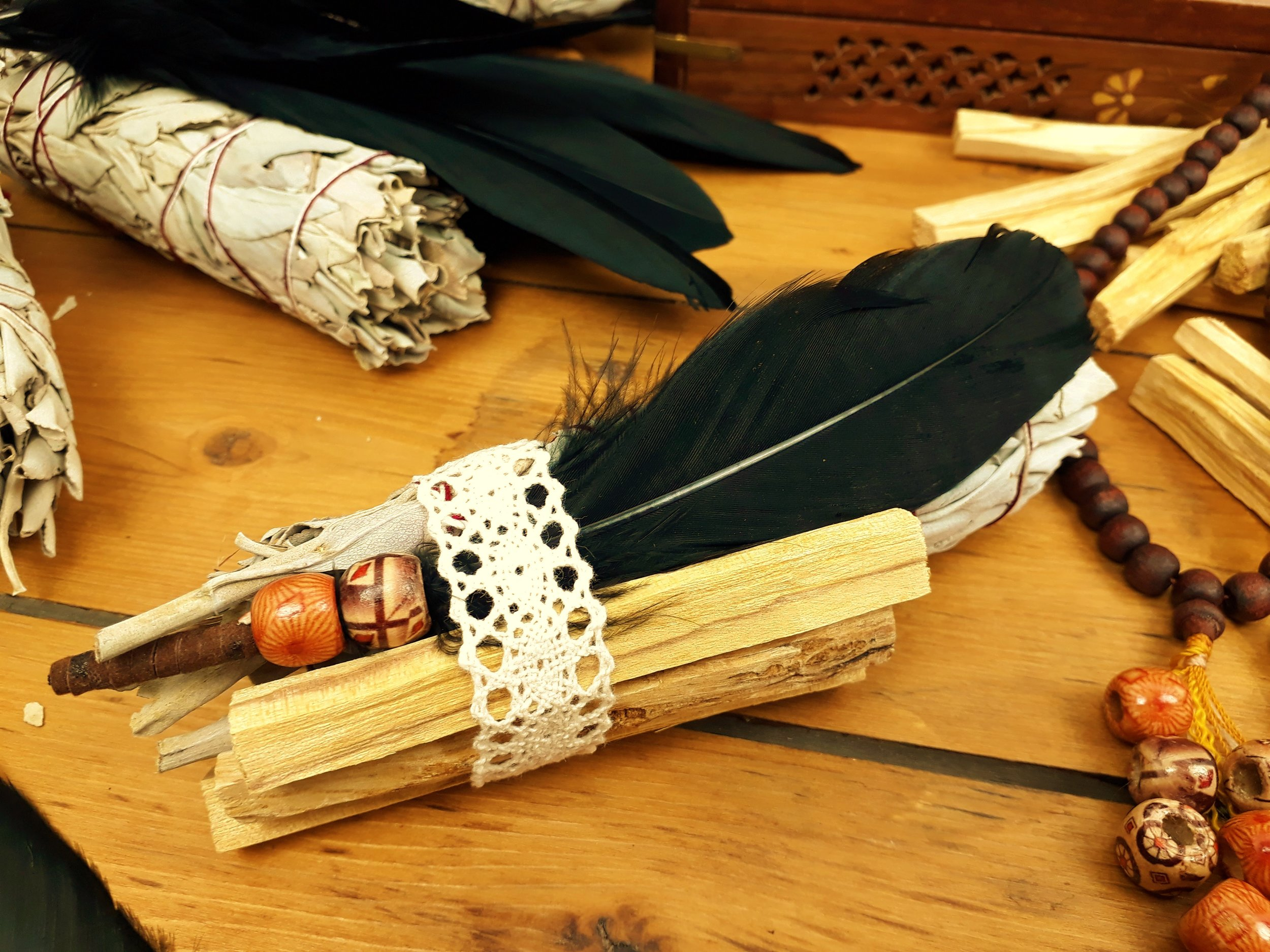 In Store Now - Air Purifying Smudging Kits - Clear the Air with a Californian White Sage and Palo Santo Smudging Kitonly £18