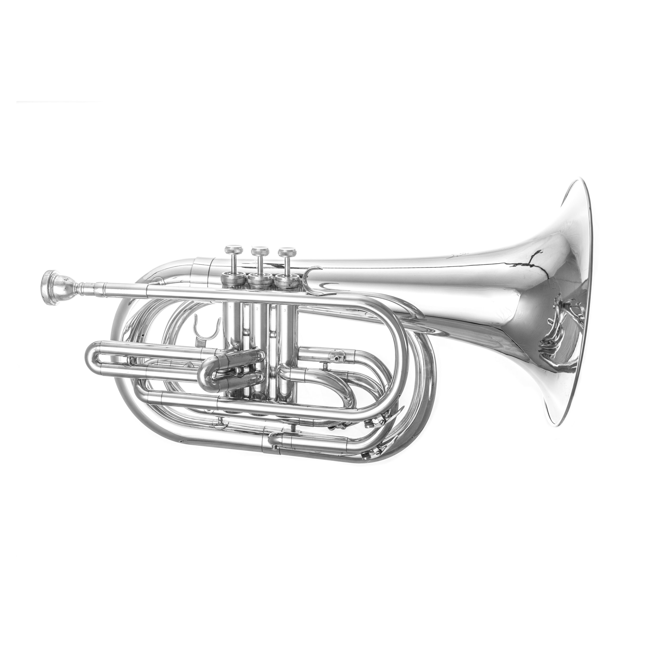 Marching Baritone Horn Silver Plated  0002.JPG