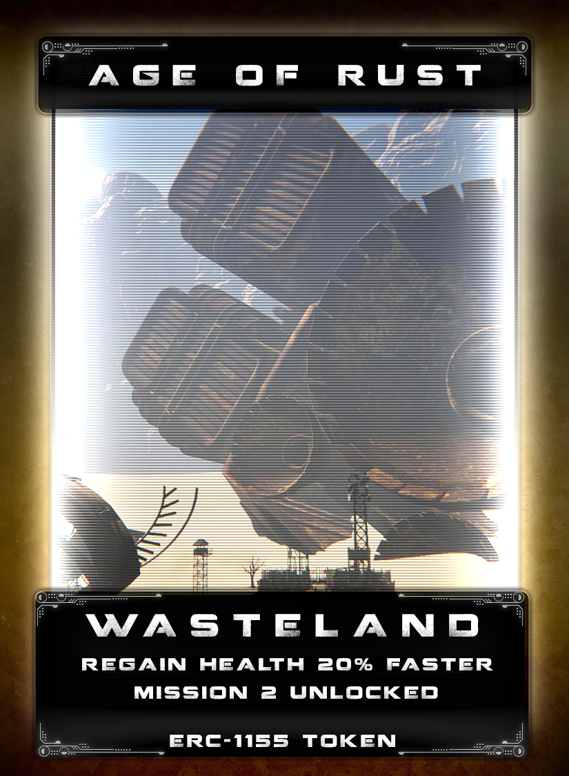Wasteland - On a distant planet, a mining operation was established to provide much needed resources to early settlers for terraforming and raw materials. It soon became a popular trading hub and eventually a large settlement. As mercenaries established a foothold in the region, lawlessness took root and the planet developed a reputation as a place to avoid. In the decades that followed, the outposts on the planet were essentially abandoned and the harsh environment reclaimed them. Myth and superstition fueled by lost riches led a few brave explorers to in search of the wastelands on the planet. There are rumors of mechs buried up to their necks in shifting sands and vaults of vast treasures left behind. Time and distance have washed the name and location of the planet from the minds of those still living in the age of rust.