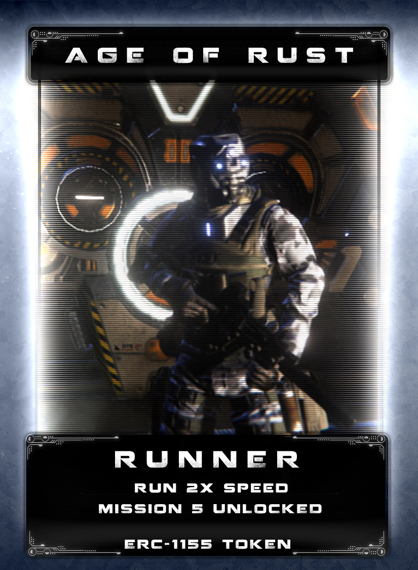 Runner - Runner's are nicknamed after a mysterious type mech often seen fleeing from ships and bases that have been attacked or damaged. In order to avoid capture they will run and often escape by any means. Several have been known to open airlocks and jettison themselves or jump into a reactor stream to meltdown. They are often seen carrying out sabotage attacks by any way possible including tampering with safety controls for weapons, reactors, and environmental systems. Just as mysterious, when caught before self-destructing, they have no means of communication or capability to transmit any messages. No one knows who or what has programmed Runners or how to stop them.