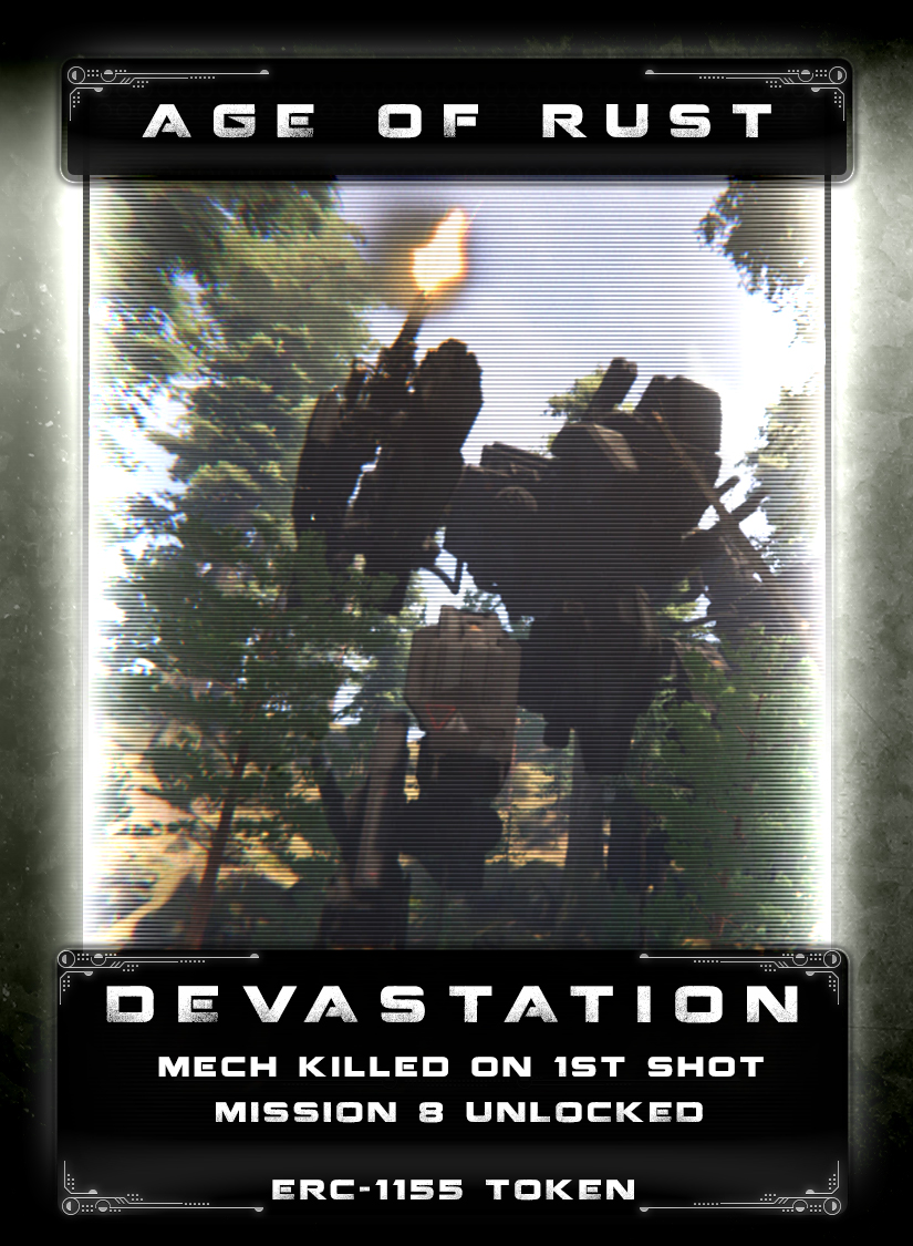Devastation - You've discovered a bit of hidden tech that disrupts the processing and command capabilities of the mechs. Turning it on causes them to freeze up or shut down for a brief period of time. While they are stuck in a feedback loop, you unleash a deadly volley of brutal weapons fire into their dark cold metal soulless bodies. You unleash a devastating assault that they may never rise from again.