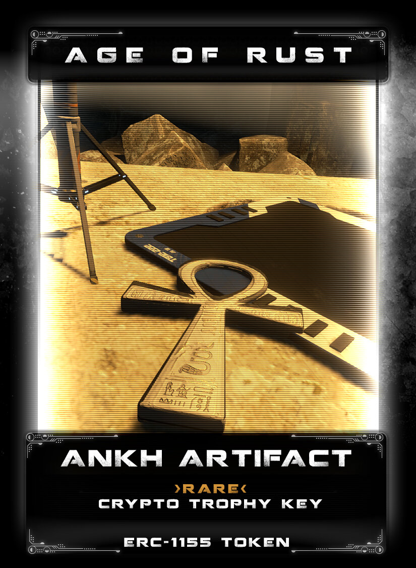 Ankh Artifact - Found in the caves of Kanbar, this mysterious earth artifact was left behind as a sacred marker as a symbol of Life. Rumors tell of a group of bounty hunters that went in search of a great treasure and found themselves trapped and only received this marker. A handful of these artifacts made their way off-planet into the hands of collectors and travelers. Perhaps there is another use for these...