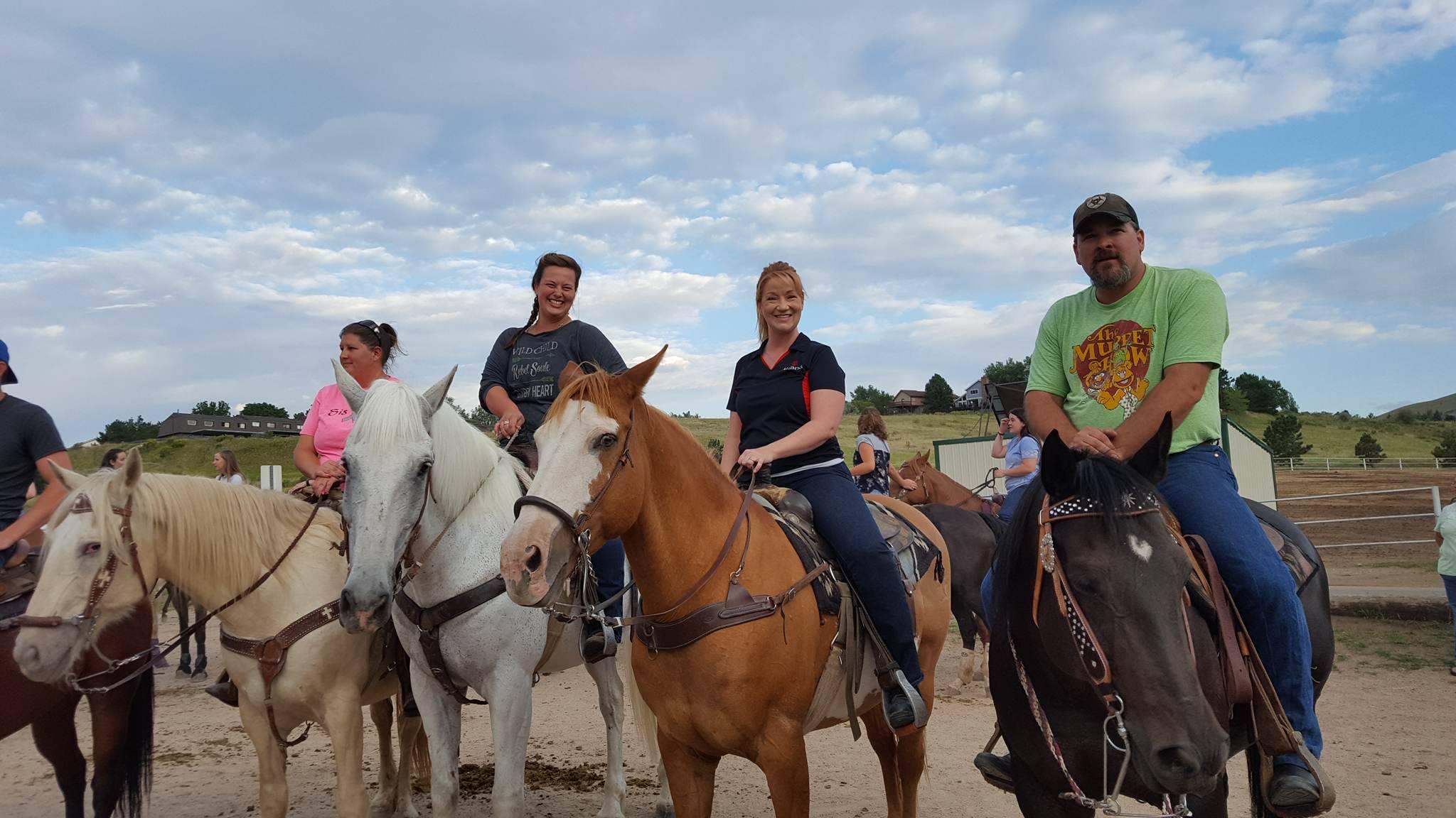 Red Team alumni (right to left): Mike Metzler, Karen Kronauge, Aline Laird