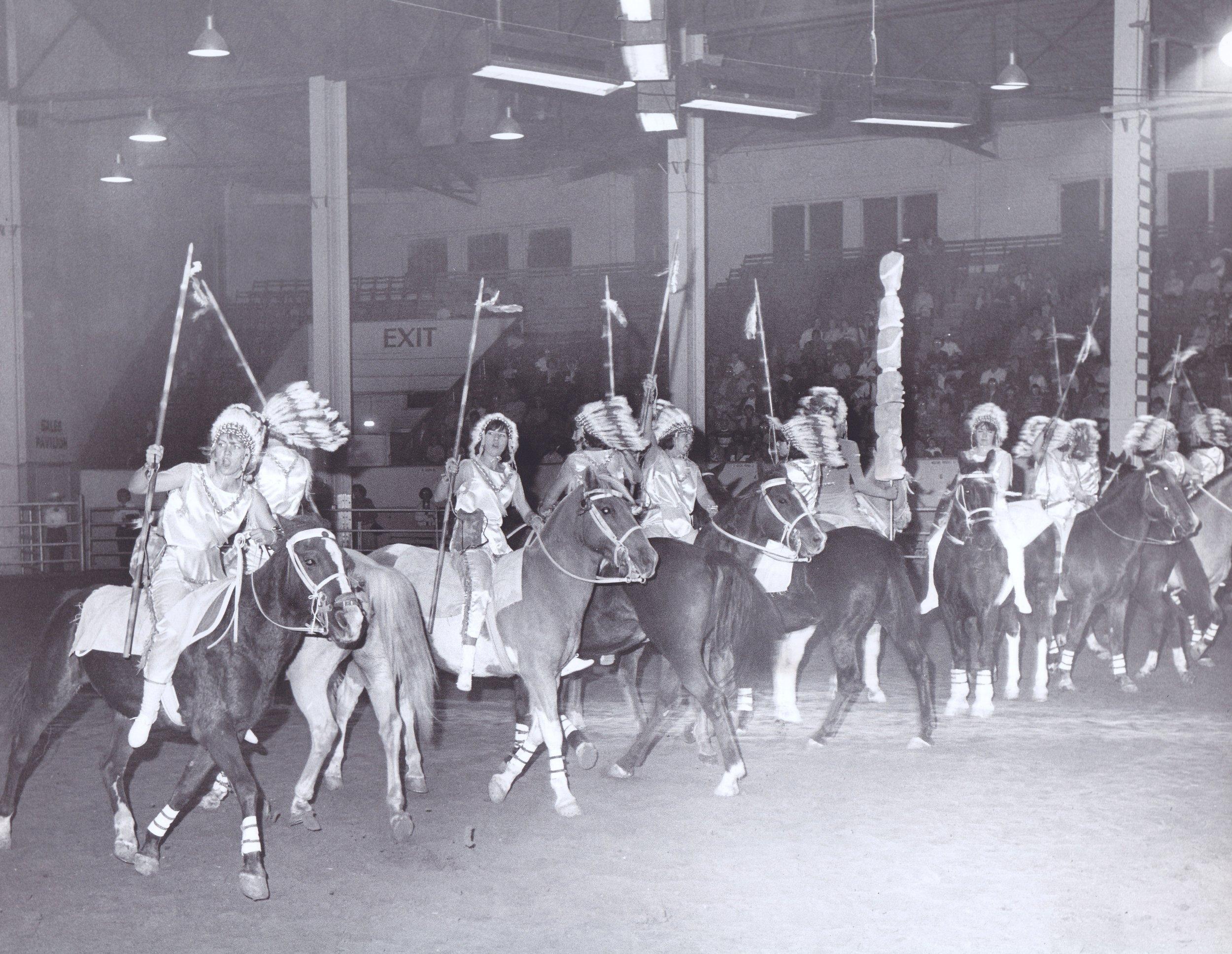 "The ""Indian Fantasy"" act at Annual Show, circa 1965"
