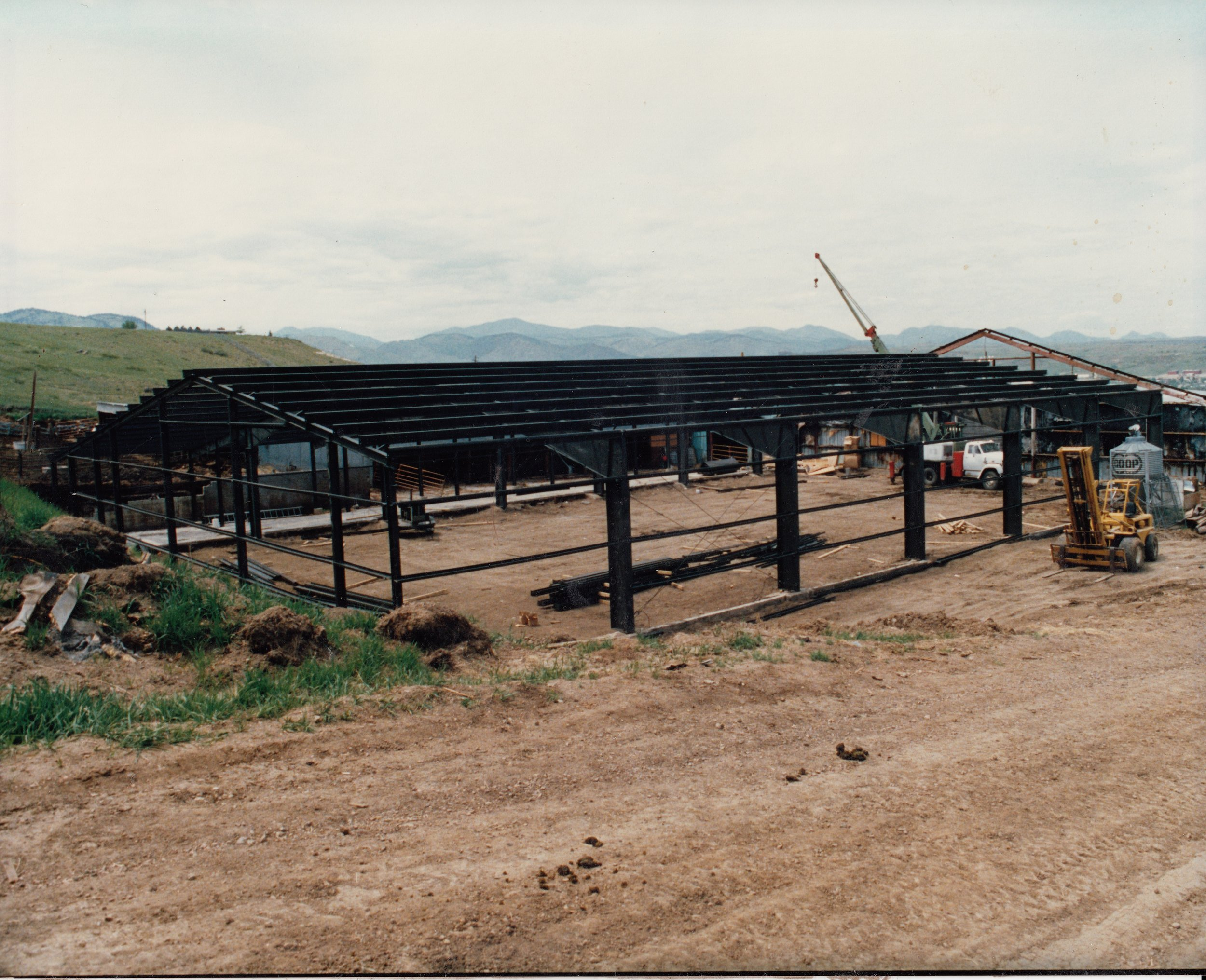 The new Red Arena build in-process during the Summer of 1986.  It took countless volunteers hundreds of hours of work to complete this project.