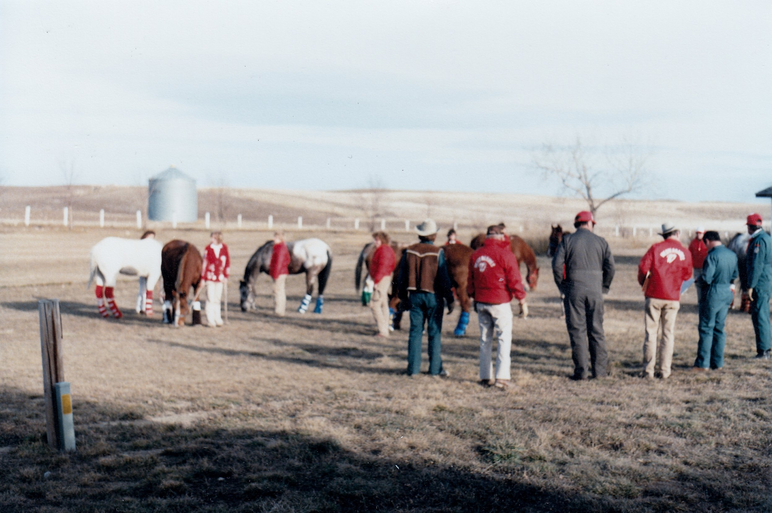 Westerniares stop in  Sheridan, Wyoming  for the night to allow the horses stretch their legs. Alumni Dave and Debbie Metzler were former residents of Sheridan – they were instrumental in arranging for lodging, food, and accommodations for everyone.
