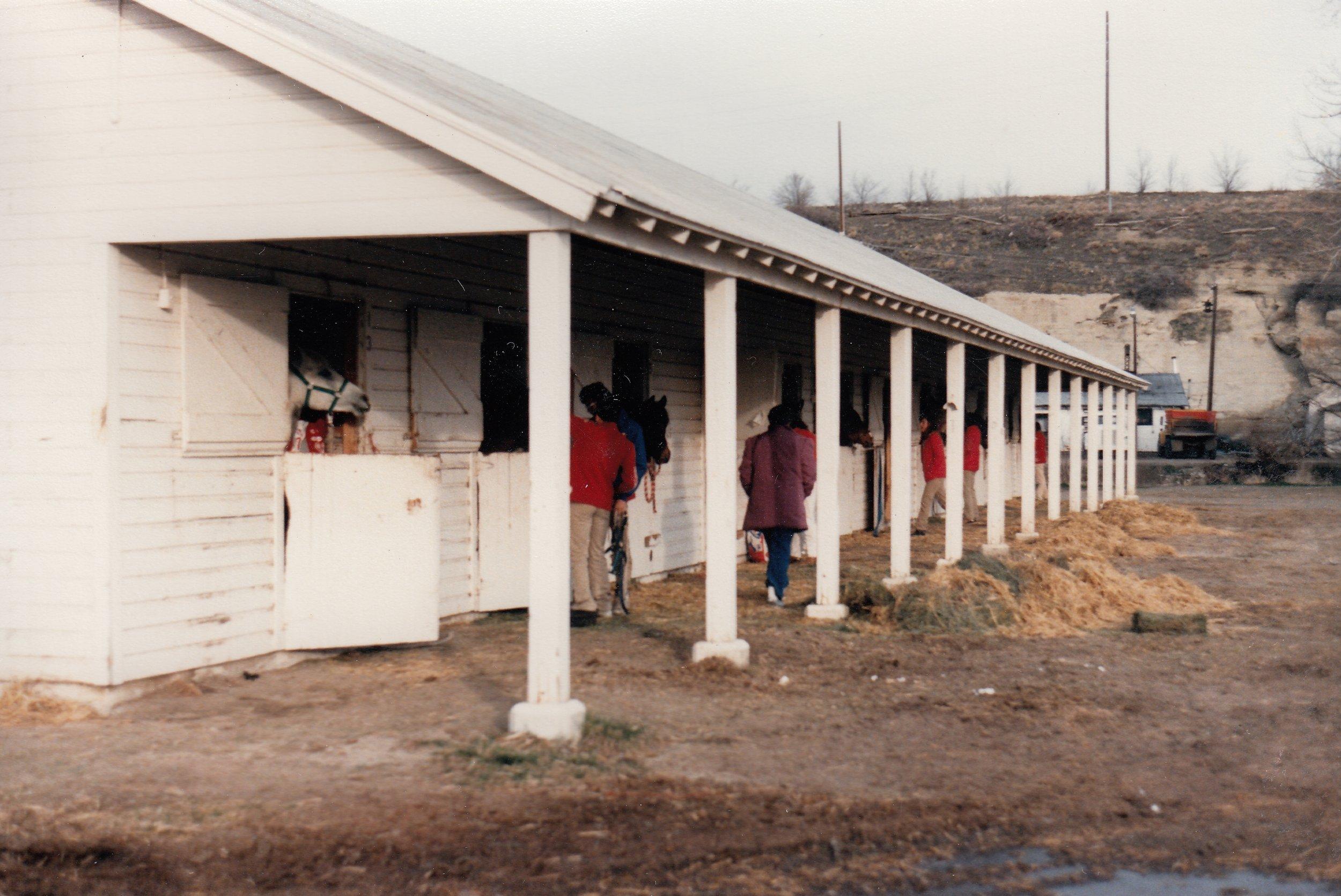 Westernaires horses stabled for the night in Billings, Montana, en route to Regina, Saskatchewan