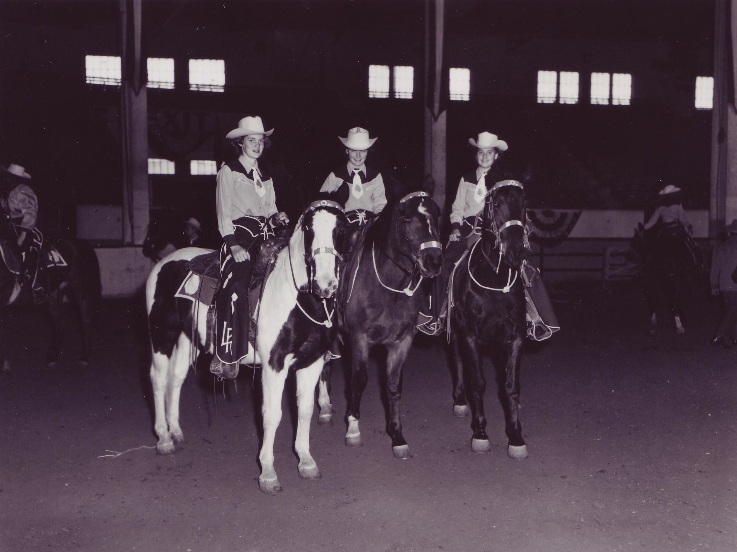 Warm-up before or cool-down after the 1952 debut appearance of Westernaires at National Western Stock Show