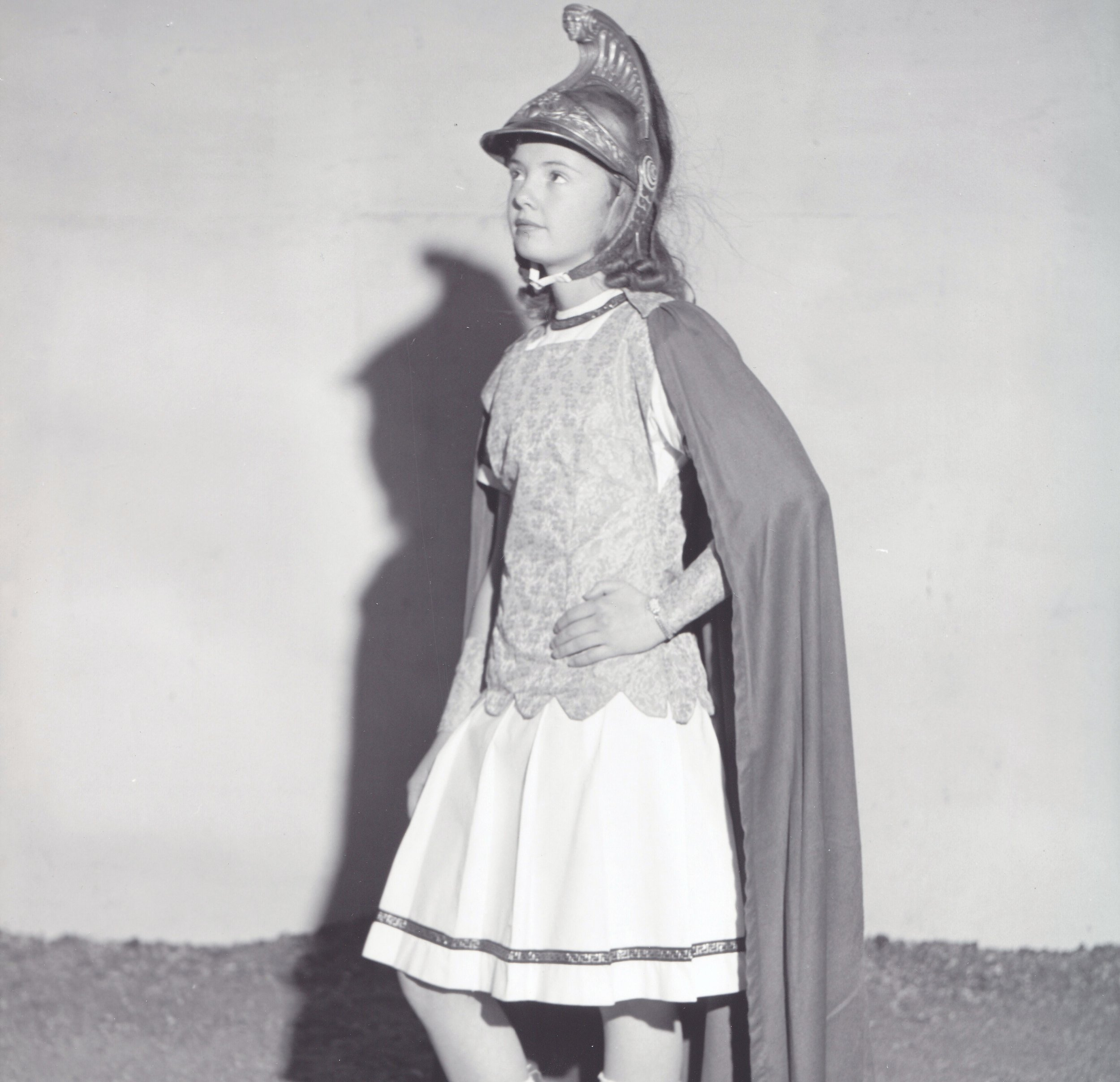 Westernaire Cheryl Arrington (here in her Charioteer costume, in 1960) took on the training of ponies Nip and Tuck.  It was not a job for the faint of heart.