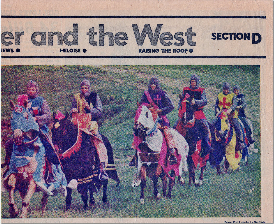 Westernaires as the medieval knights of  Camelot , in a Denver Post promotional shoot on Green Mountain.