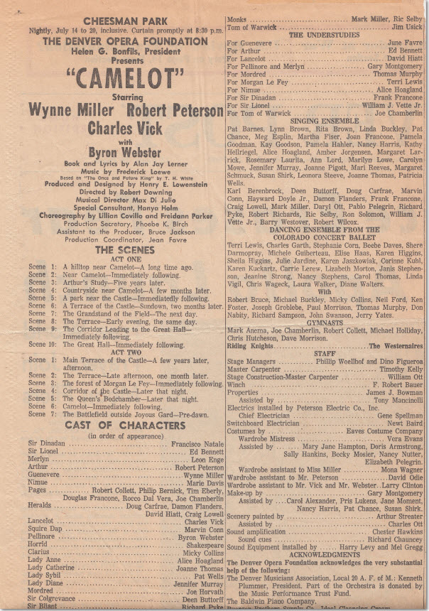 """Westernaires appeared in the playbill for their role as """"Riding Knights"""""""