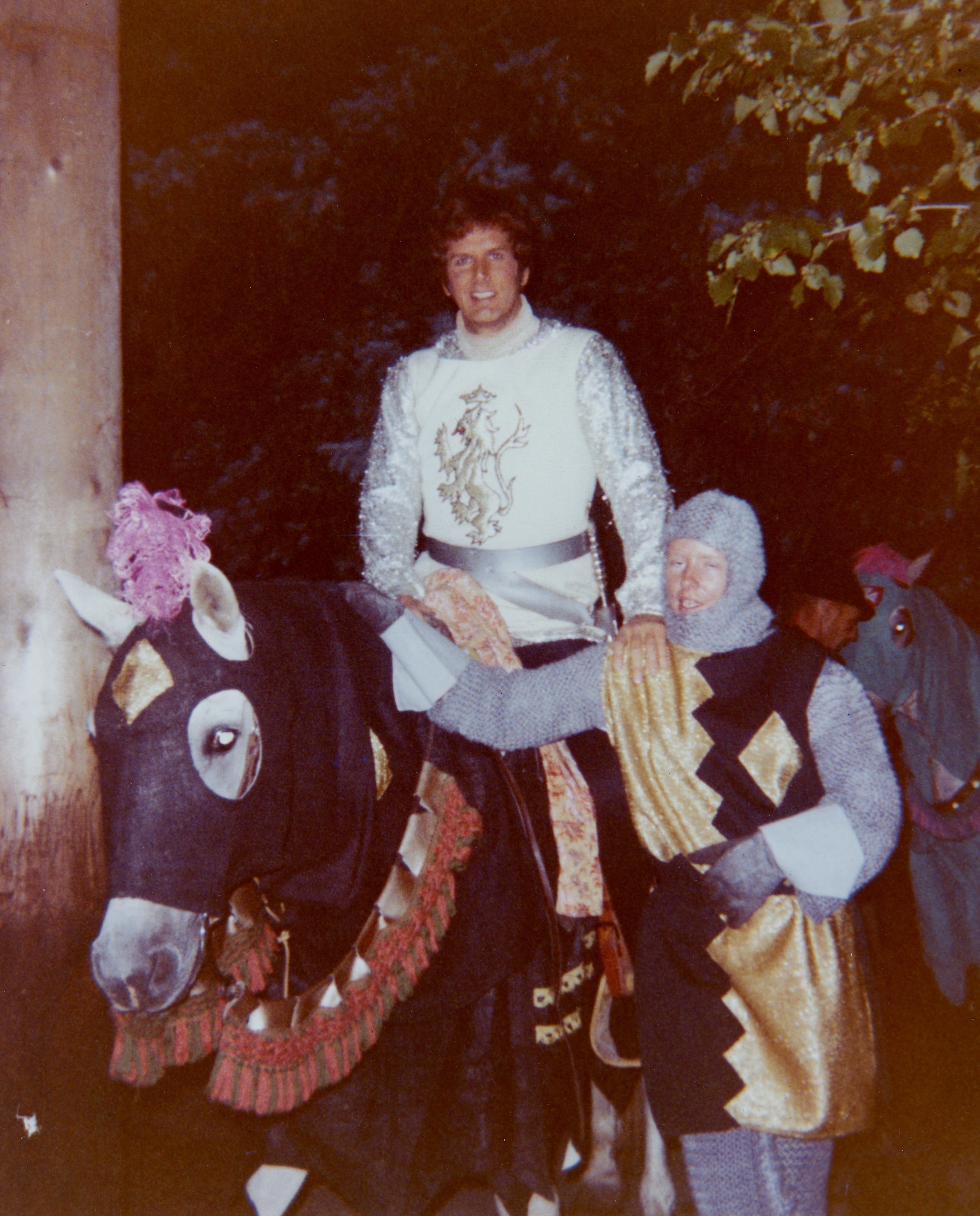 """Westernaire rider Sharon King with Robert Peterson, starring as """"Lancelot,"""" in  Camelot"""
