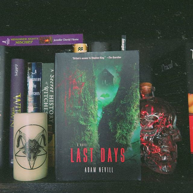 Happy March, y'all!! New month means new book! My Creepy Book Club and I are starting Adam Nevill's Last Days today 😱 Join us on Goodreads 📚  #creepybookclub #bookclub #bookstagram #adamnevill #lastdays #bookshelfie