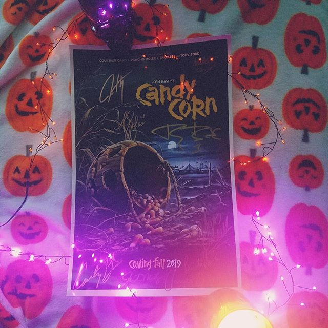 My poster arrived and it 👏 is 👏 GOREgeous 😍 Easily one of my most anticipated movies of the year 🎃  #candycornmovie #halloween #horrorishealthy #horrormovies