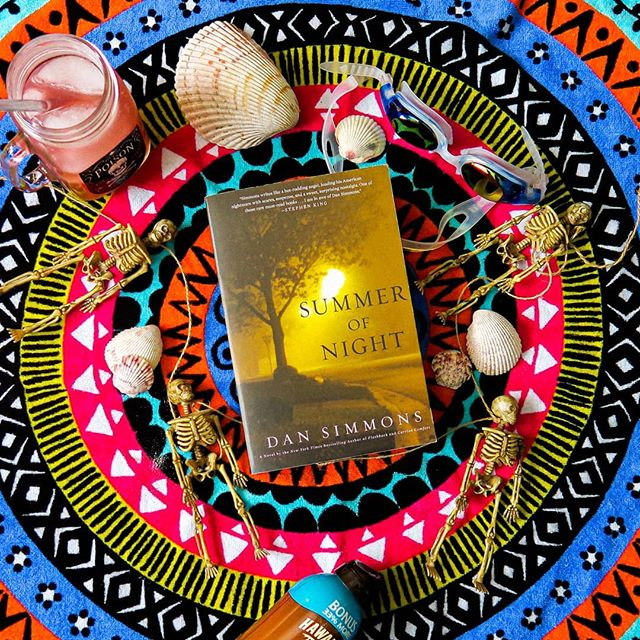 It may not be your typical beach read...but it's MY kind of beach read ⛱ Summer of Night is the June pick for my Creepy Book Club, find us on Goodreads to join ☀️ #creepybookclub #summerofnight #dansimmons #horrorlibrary #bookstagram #bibliophile