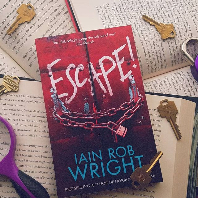 New month, new book 📖 The Creepy Book Club (find us on Goodreads) is reading Escape! by Iain Rob Wright 🔐 As someone who frequents escape rooms, I'm pretty excited for this one 😍 What are y'all reading this month?  #bookclub #creepybookclub #iainrobwright #nothorror #horrorishealthy #blacksheephorrorclub #bookstagram