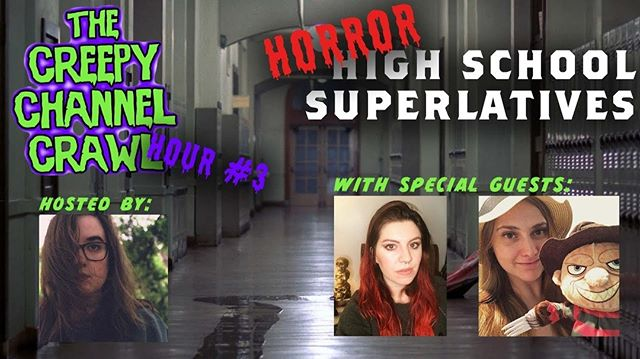 Tonight is the night! Creepy Channel Crawl 2019! I'll be hosting hour three with some of my favorite ghouls, @emilyonelmstreet and @felicialobo ! See you at 10pm EST & you can go to horroraddictstv.com for the full schedule! http://ow.ly/wKV550uZoBX