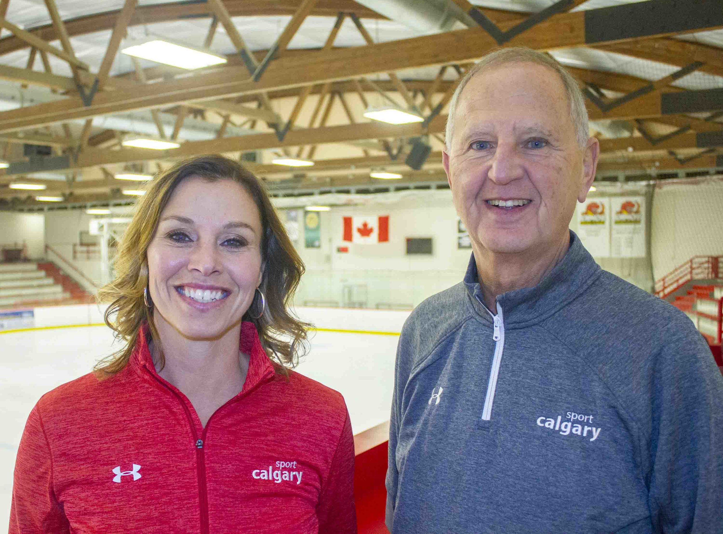 Catriona Le May Doan (Senior Director, Community and Sport Engagement) and Murray Sigler (CEO) with Sport Calgary