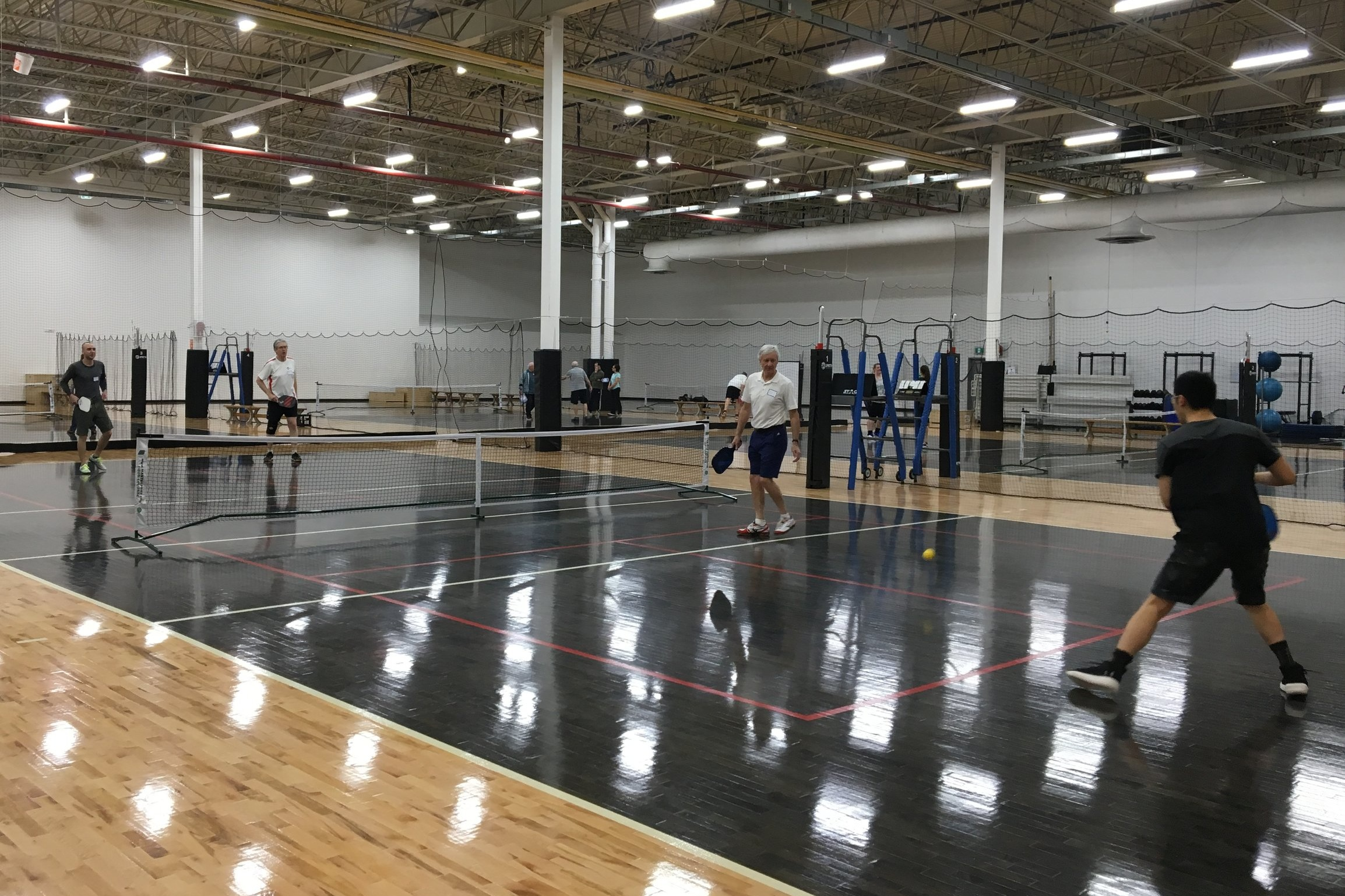 Pickleball being played at the Junior Varsity Athletic Centre