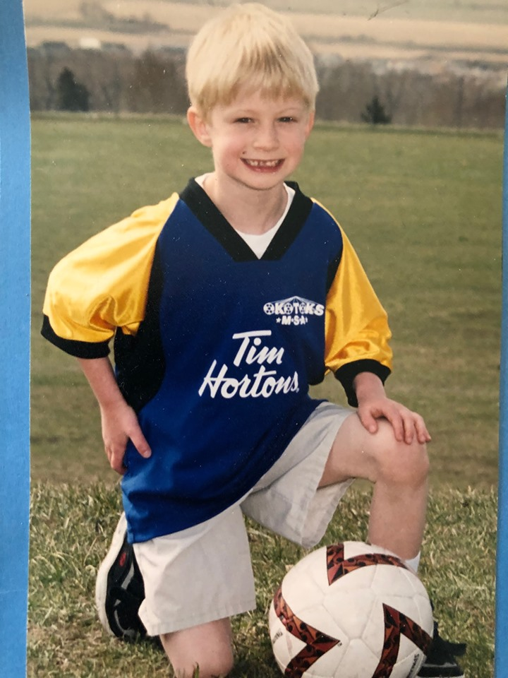 My first soccer photo