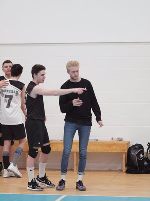 Me Coaching with Foothills Volleyball Club