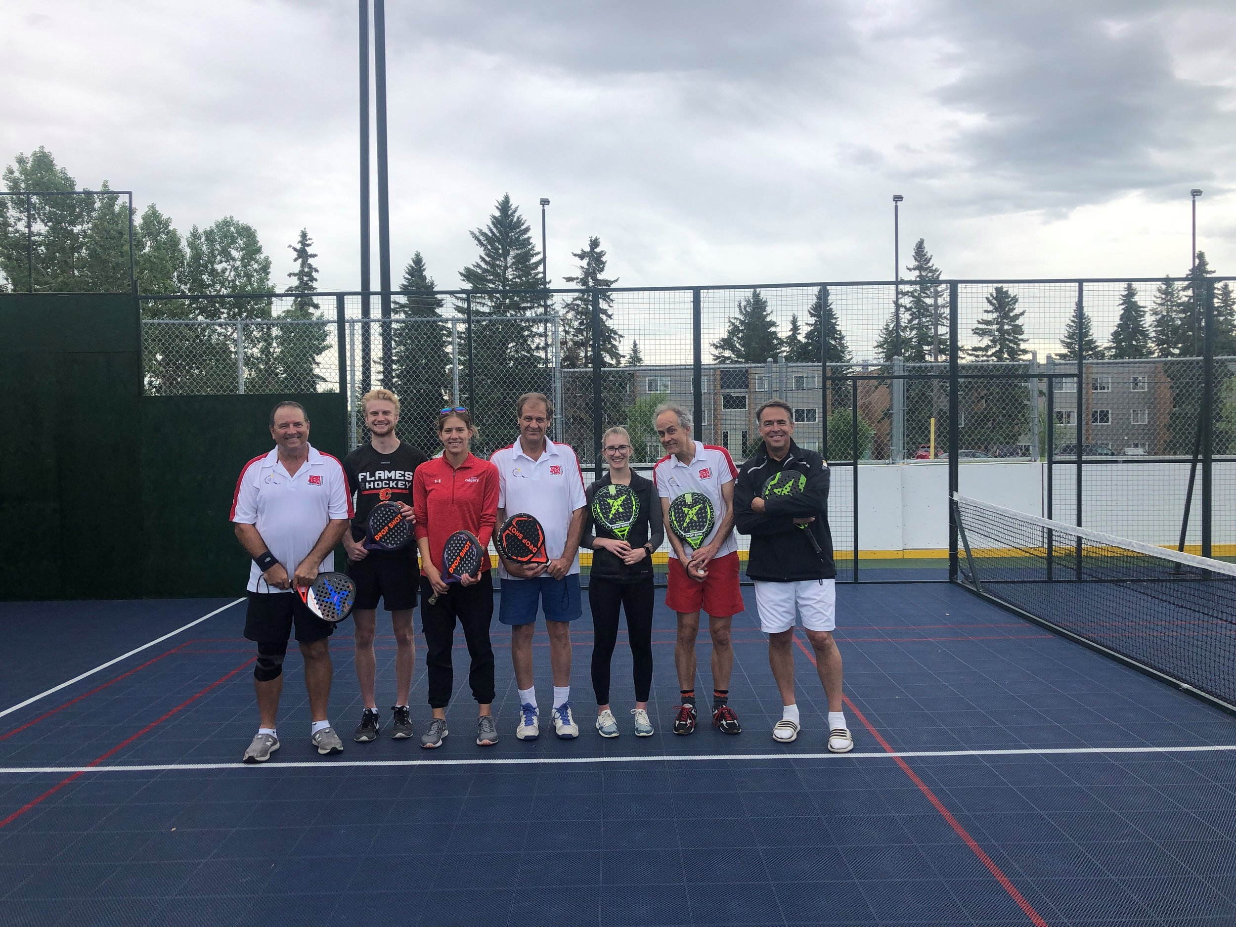 The Sport Calgary team with the Calgary Padel Club members