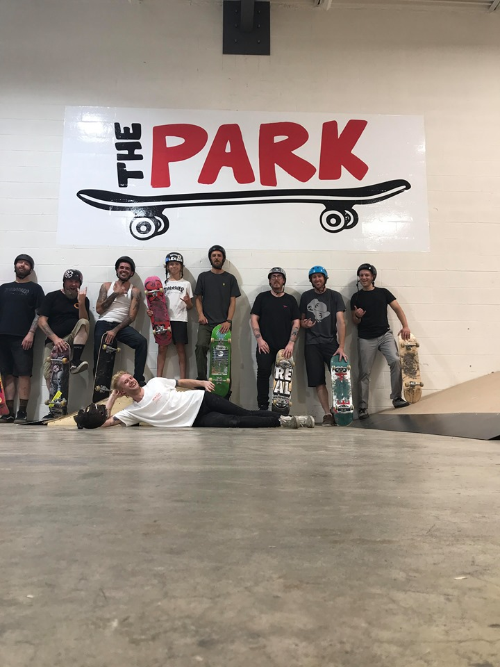 Matt with the CASE and Youth Brigade Skateboarders at The Park