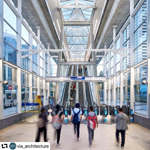 """#repost @via_architecture Congrats to the winners, this was such a fun project! #TransitTuesday ・・・ Transit ridership continues to rise in Metro Vancouver! According to @translink 2018 Transit Service Performance Review, SkyTrain ridership saw a 5.7% growth in 2018.  Metrotown Station had a 19.7% ridership surge, compared to a 6.9% increase in 2017, with the station remaining open and operational through upgrades construction. The 2018 ridership upturn saw Metrotown leapfrog Commercial-Broadway as the second-busiest SkyTrain station in Metro Vancouver for the year, with 8,214,000 boardings. We're excited to see the continued growth and vitality of the station and the surrounding area.  As the prime consultant overseeing the upgrades and expansion of Metrotown station, we're also happy to share that Metrotown Station won the Deputy Minister's Award of Excellence in Alternate Transportation """"in recognition of excellence in alternate transportation."""" Metrotown also won the Gold award at the 2018 Vancouver Regional Construction Association Awards of Excellence in the General Contractors – $15 Million to $50 Million category (awarded to @grahamconstruction)"""