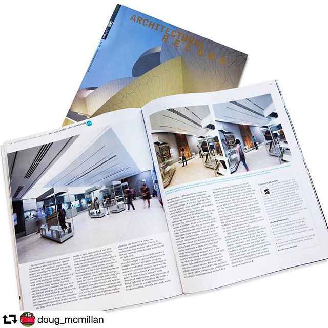 #fbf to lighting designer @doug_mcmillan interview with @archrecordmag. His designs for @moa_ubc were featured in an article discussing designs that utilize natural daylight and technology which emulates daylight. The design at UBC used tuneable white light, and won an @ies.bc vision award last year. It is a great example of how #tuneablewhite can be used for more than just circadian rhythm. . #fbf #FlashbackFriday #lightingdesign #museum #vancouverisawesome #architectuallighting #architecturalrecord #firstnations #daylight #architecture #ubc #aesengr #light #art magazine photos by @emaphotographi  #repost @doug_mcmillan