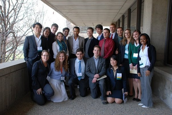 Team MCN at its inaugural conference in 2008 at MIT in Cambridge, Massachusetts with MCN Advisors John Legend and Dr. Jeffrey Sachs. Photo credit: Shang Chen, MCN