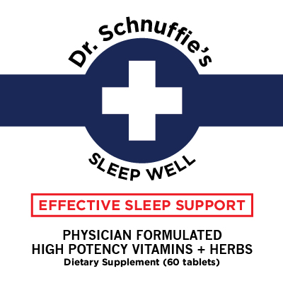 Dr Schnuffies Wellness Formulas Sleep Support Insomnia Relief Natural High Potency VItamn Supplement High Quality