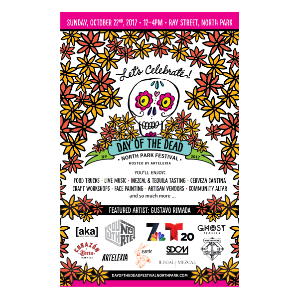 Day of the Dead Festival North Park Event Poster