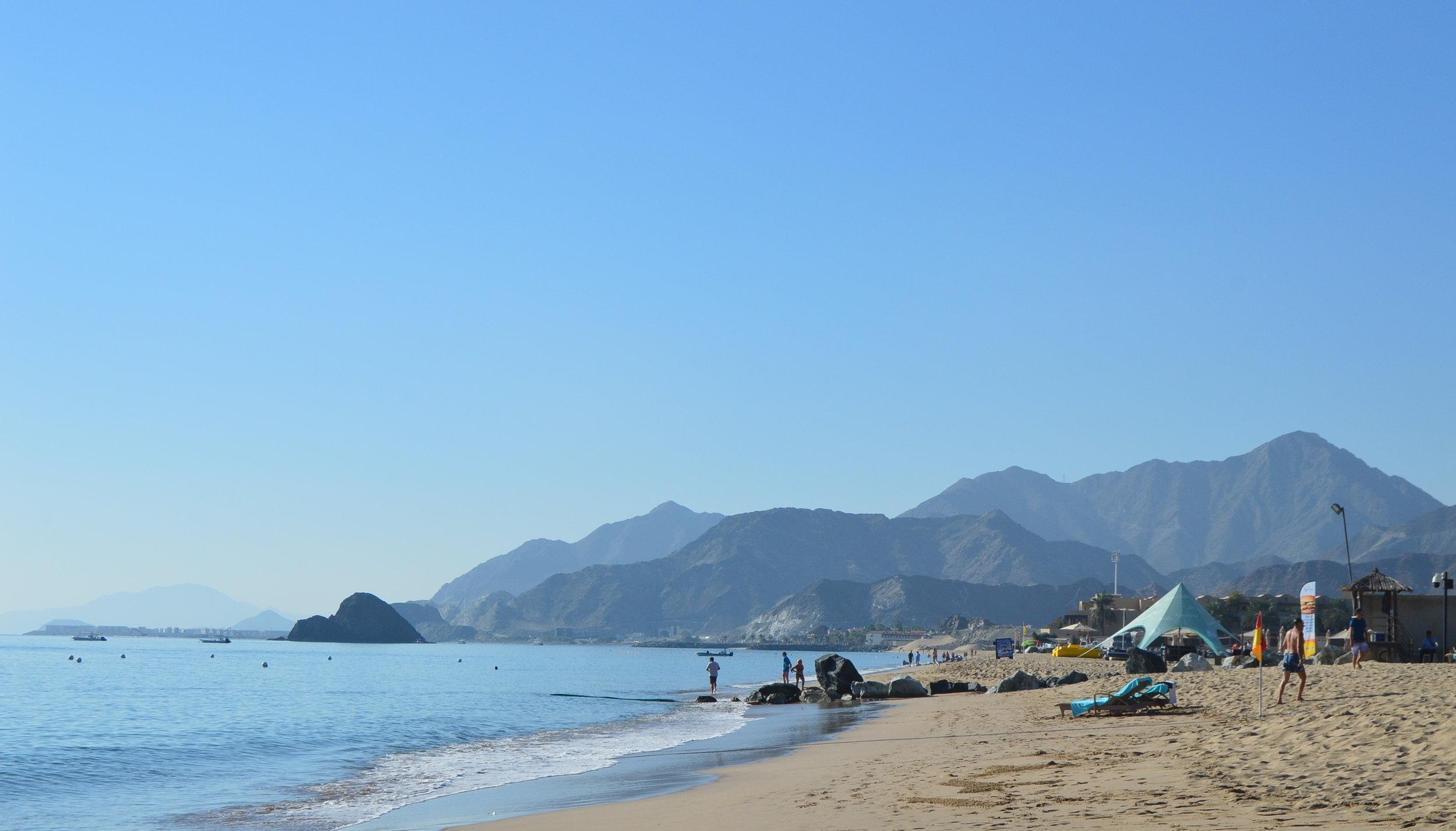 1st stop on Day 3 - January 2, 2018: Le Meridien, Al Aqah Beach Resort