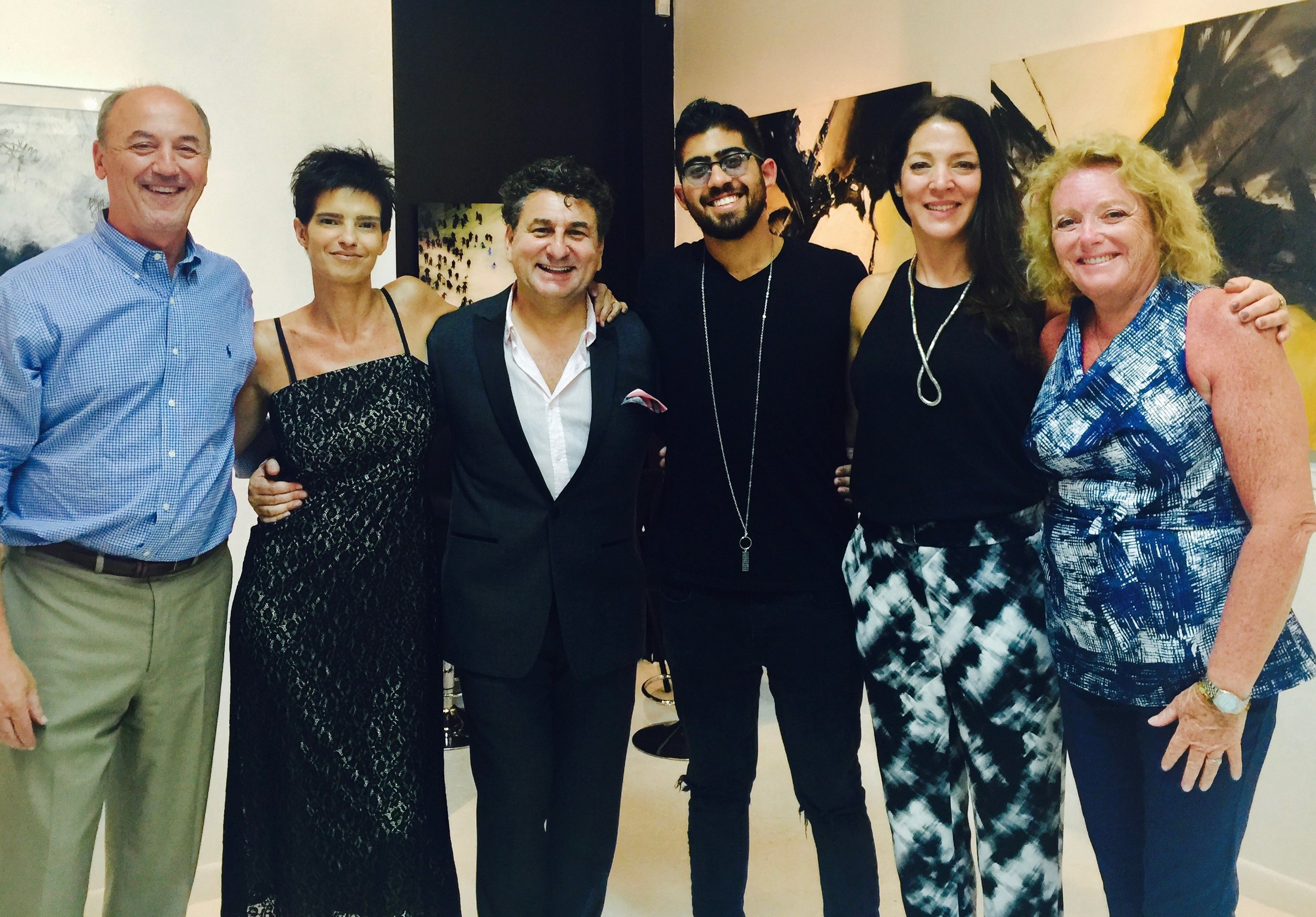 Group of Artists (left to right): Ricardo Trotti, Viviana Andon, Eduardo Rubin, Gianfranco Tomasetti, Gabriela Kerszenblat and Maria Teresa Hafford.