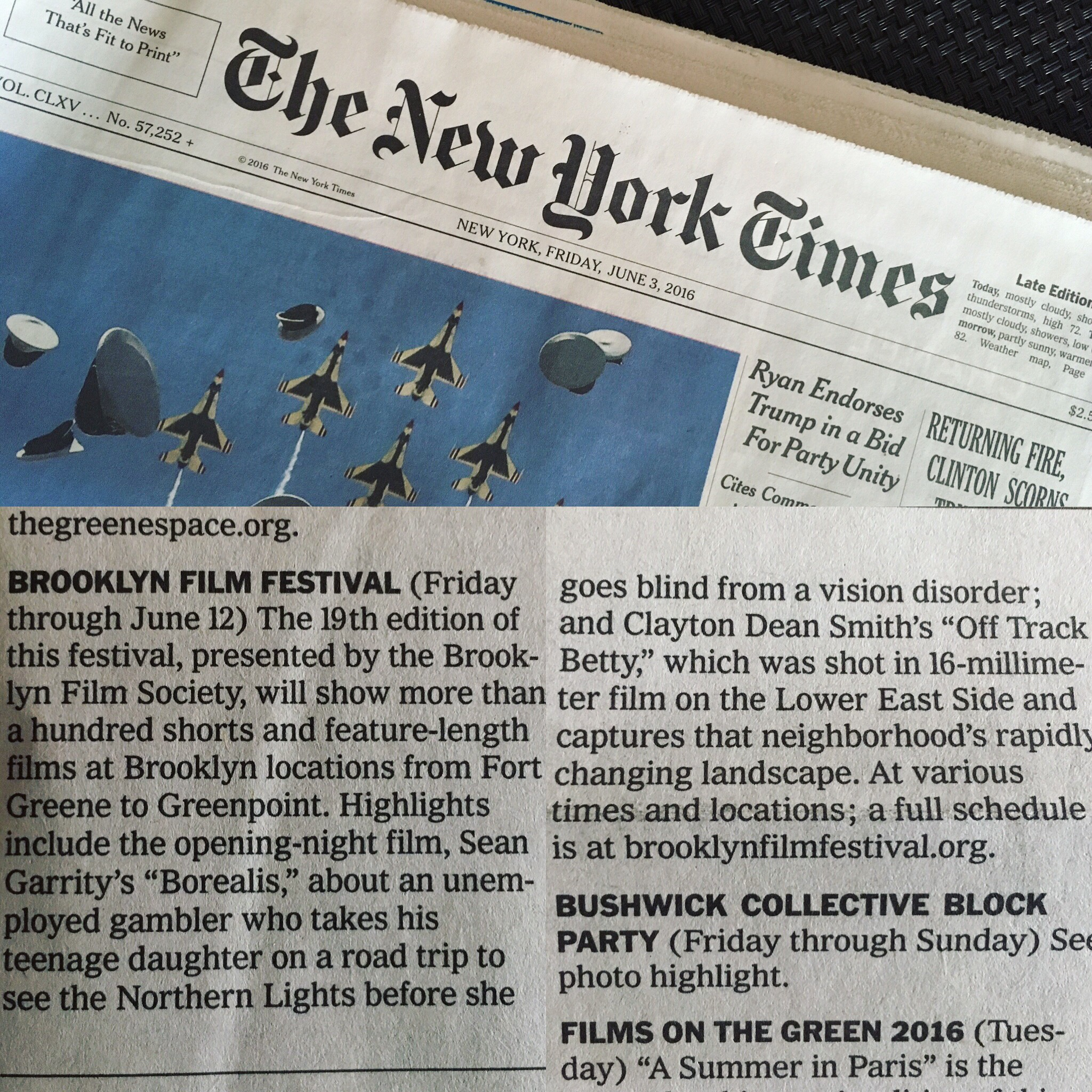 Off Track Betty in the New York Times
