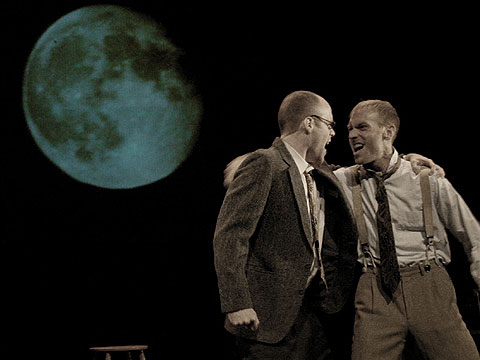 """Todd Alan Johnson and Clayton Dean Smith in """"The Blue Flower"""""""