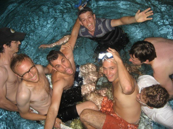 """The cast of """"Jettison"""" in the Swim Shorts Festival"""
