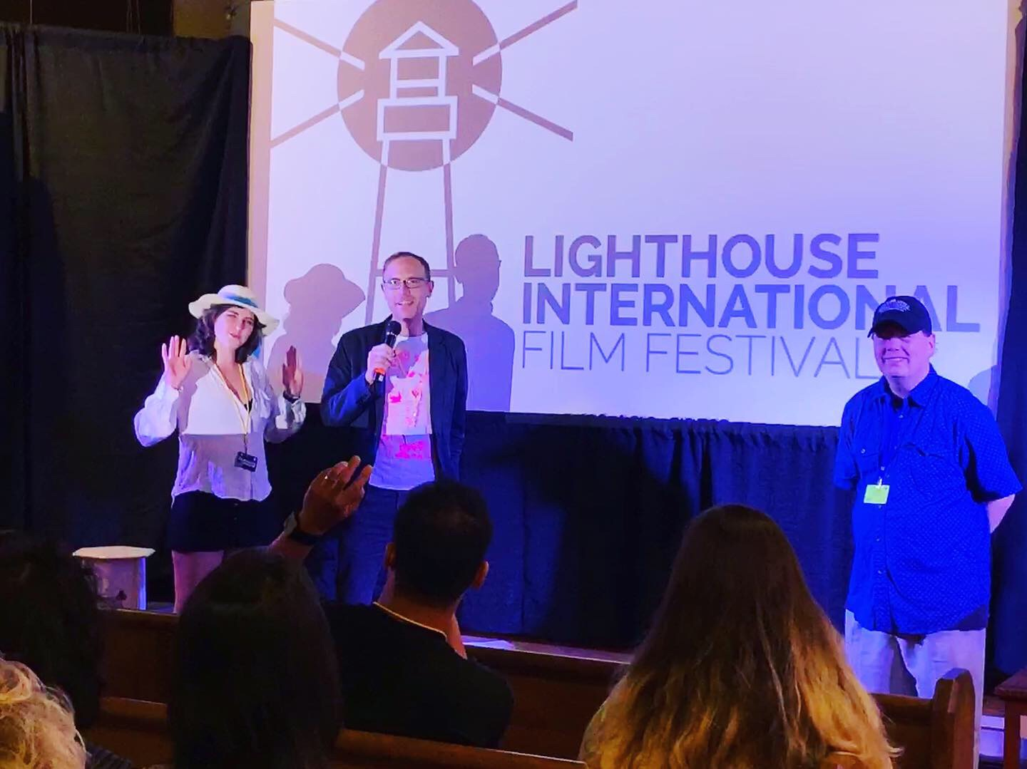 Clayton with Too Late actor Marzy Hart at the 2019 Lighthouse International Film Festival