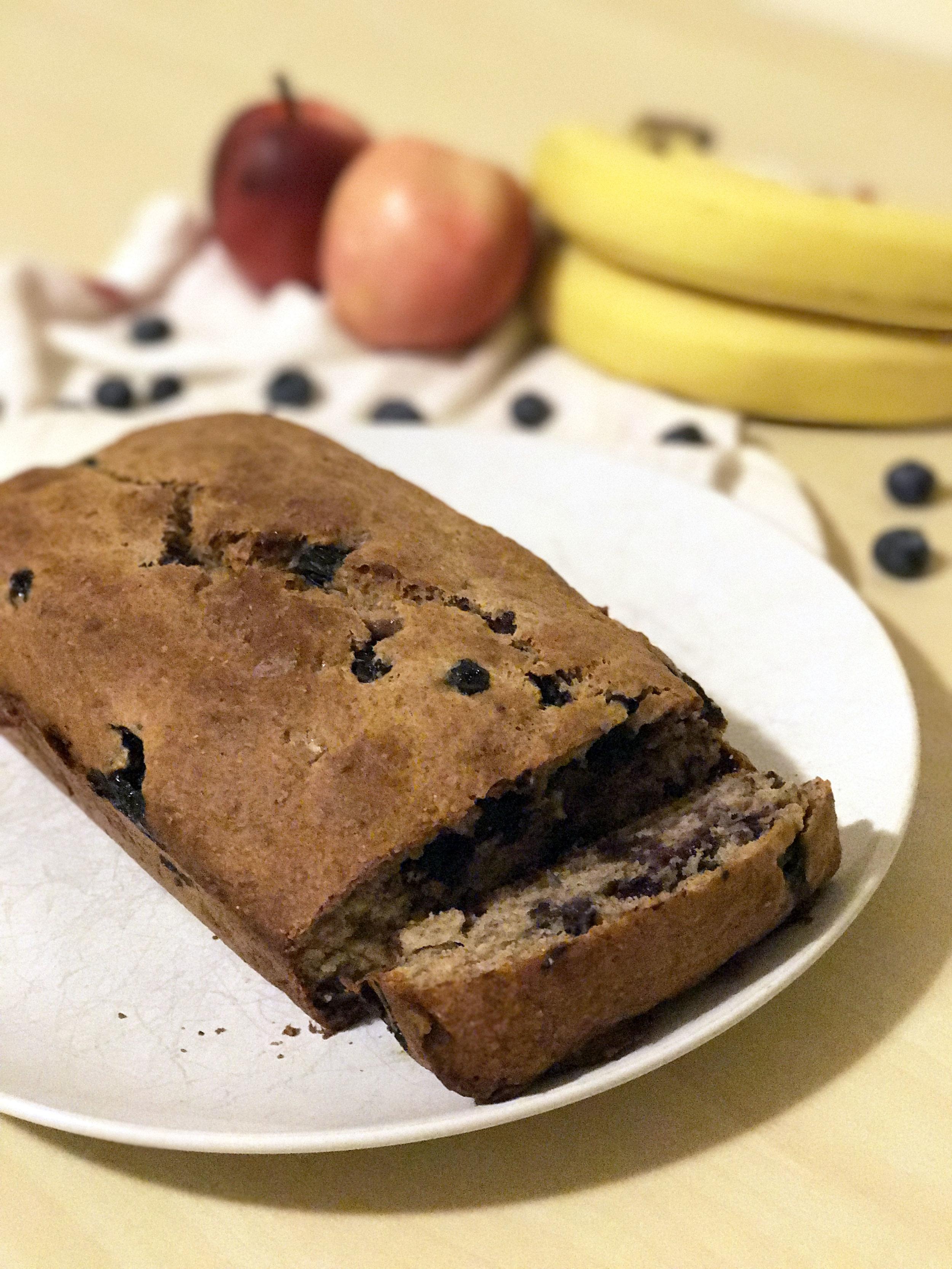 homemade banana blueberry bread recipe