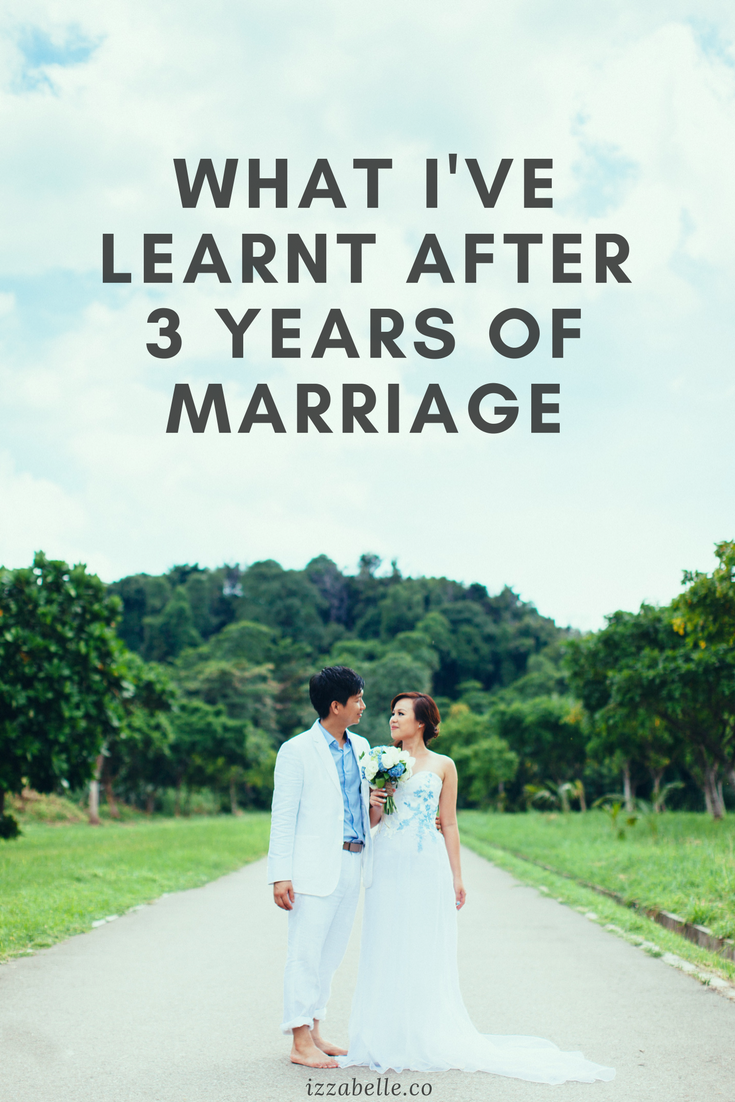 what I've learnt after 3 years of marriage