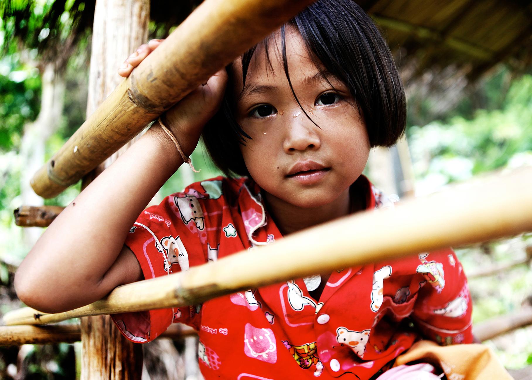 Thailand, Mae Hong Son, Girl in Bamboo Shelter.jpg